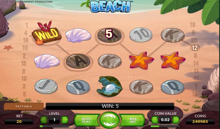 Ігровий автомат Beach