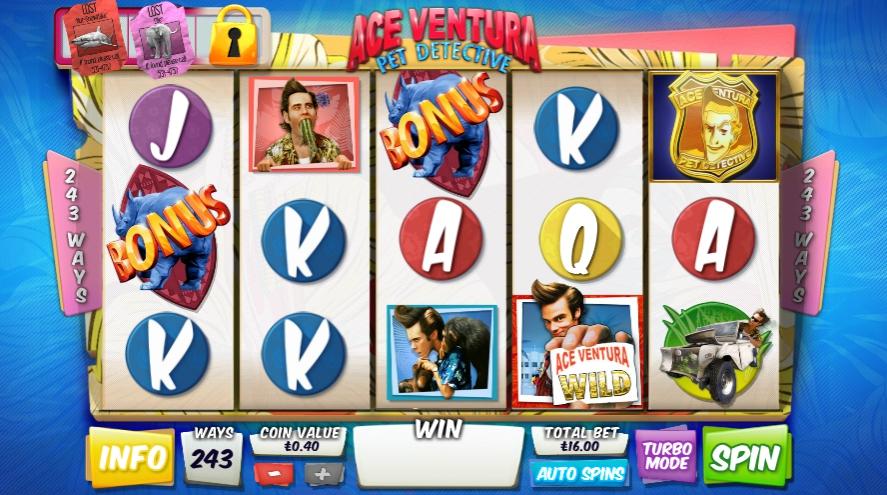 Ігровий автомат Ace Ventura
