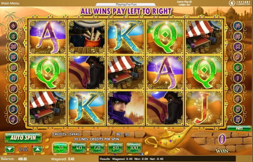 Ігровий автомат Aladdin's Legacy