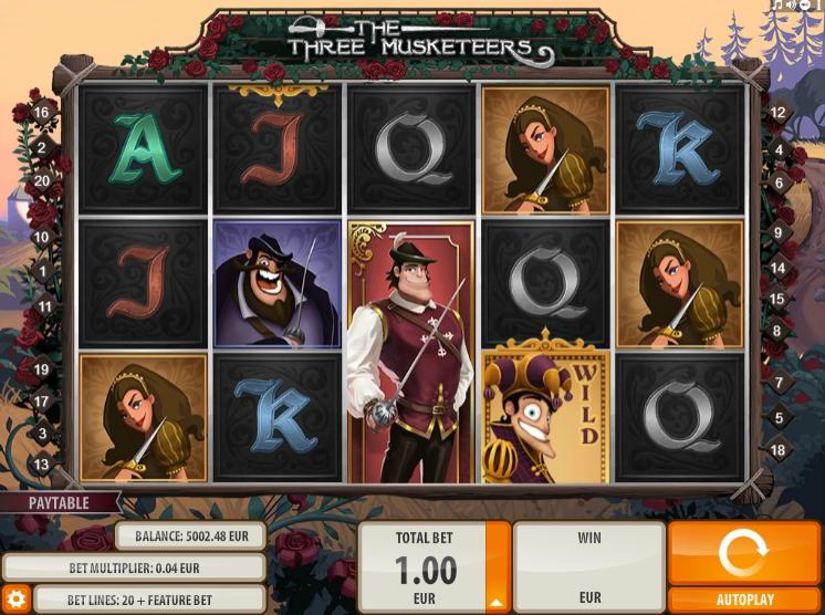 Ігровий автомат Three Musketers